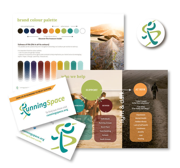 Wellbeing colours for brand design charity-brand-styling