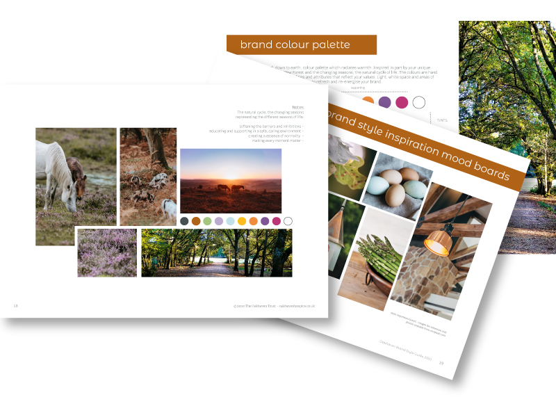 Oakhaven-brand-development-charity-hospice-new-forest-mood-boards