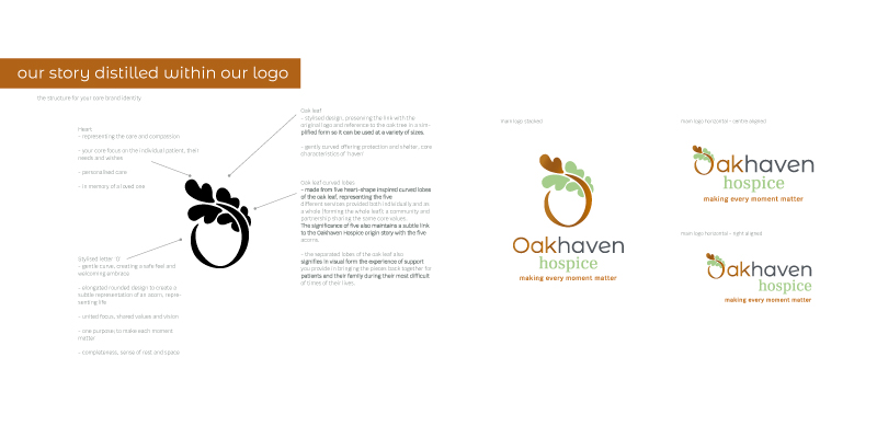 Oakhaven-brand-development-charity-hospice-new-forest-story-distilled-logo-design